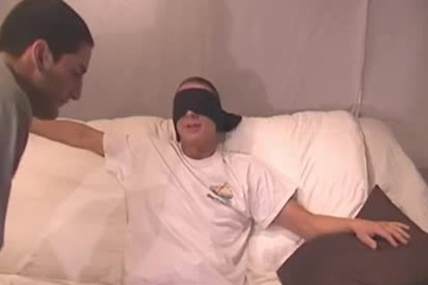 Straight guy Blindfolded And Tricked - Factory clip