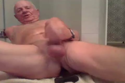 old man jack off jack off With  A dildo In wazoo And love juice