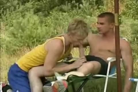 blonde Runner receives nailed By Two guys.flv