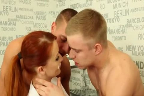 horny bi-sexual males fucking With A Redhead