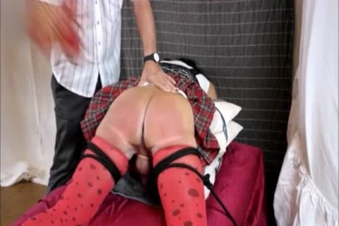 Crossdresser thrashing And Caning