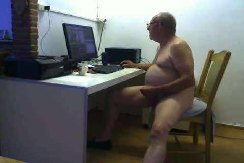 grandpa spooge On web camera