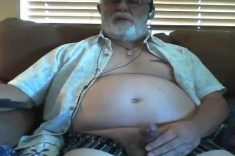 grandpa stroke On webcam