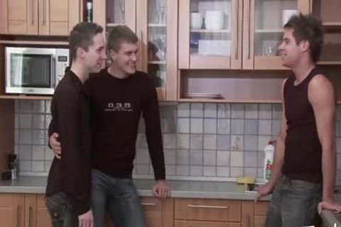 twink guy MEDIA Pissing twink Kitchen trio