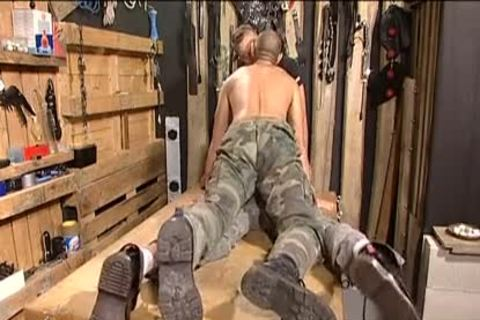 gay penis soldiers drilling for the country