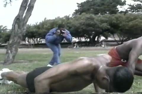 sweet dark males Assfucking After Workout At The Park