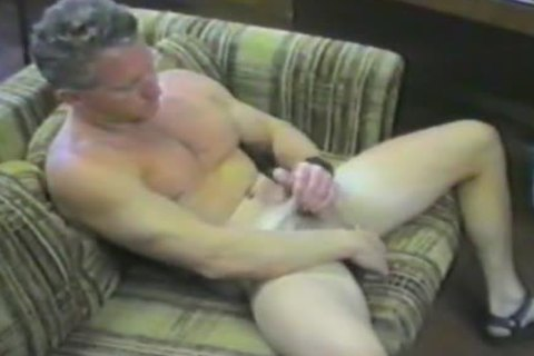 mature chap Plays With His enormous ramrod