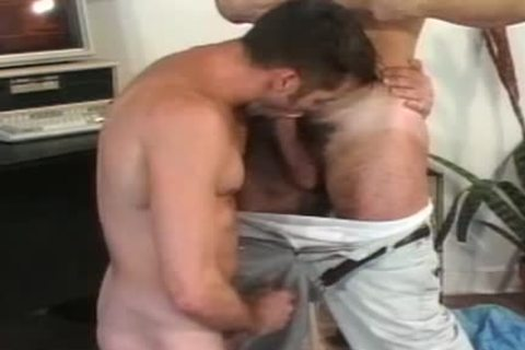 gay arsehole stretching session