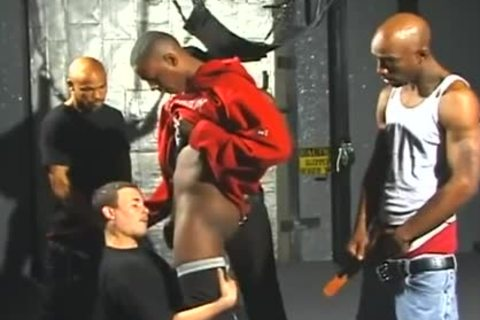 concupiscent White men Opens Wide For Interracial Gangbanging pleasure