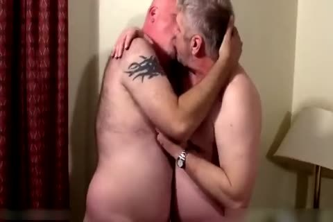 Two yummy daddies in bedroom