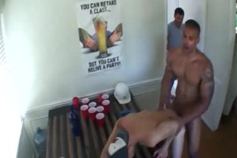 Gaystraight amateur hammered right into an darksome hole For A Dare