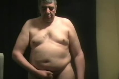 fat daddy guy Shoves toy Up His chocolate hole