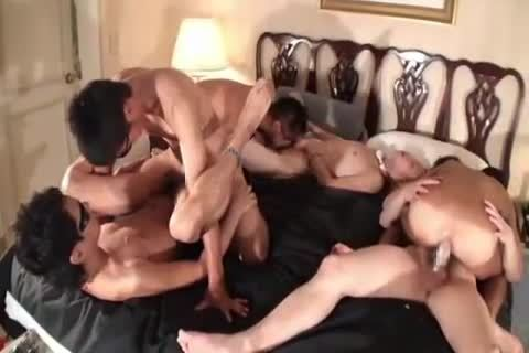 Japanese homosexual males gang orgy