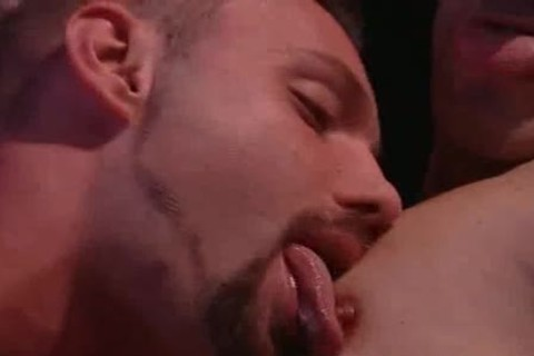 tight homosexuals Licking Their Tongues And sucking ramrods