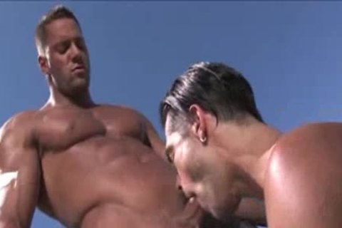 Muscle chap eric rhodes stuffed by two