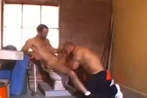Charming tattooed bfs pounding