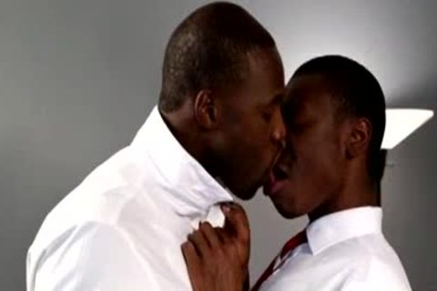 attractive Foreplay attractive darksome males