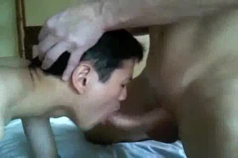 bareback Interacial asian And White Eat sperm