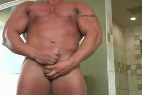 Muscle boys jerking off In Masks