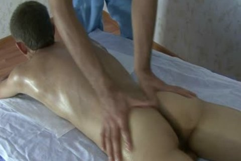 young skinny Russian Teenboy - bushy pecker - Oil Massage!