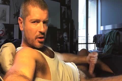 Unbridled gay sex with a condom