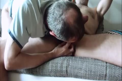 Man is jacking off his penis