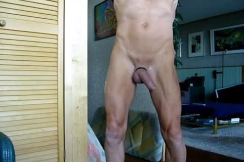Stripping, Swinging My pecker, Jerking-off And Cummin In The End