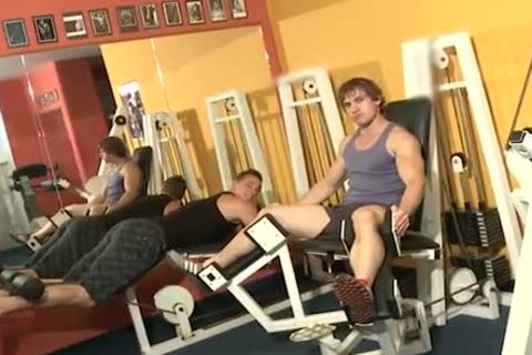 Workout dongs poke Inside A Gym