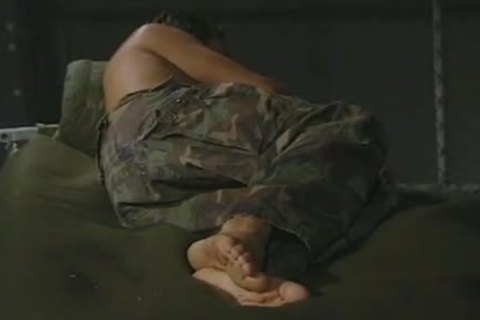 Hung Army dude Massaging His filthy Feet