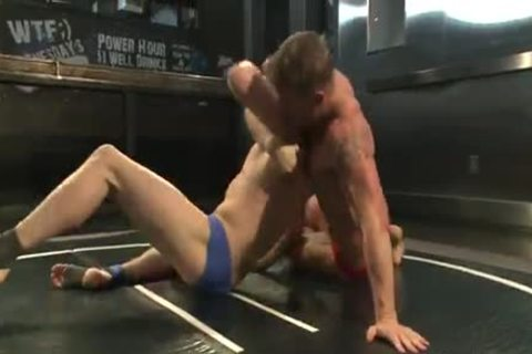 Two juvenile dudes Wrestle In The naked before fuck