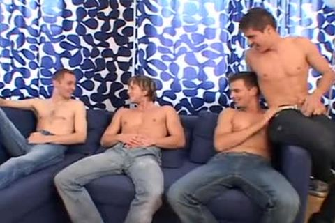 Lusty homosexual action betwixt six friends