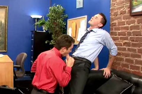 Excited homosexuals hammering In The Office At Work