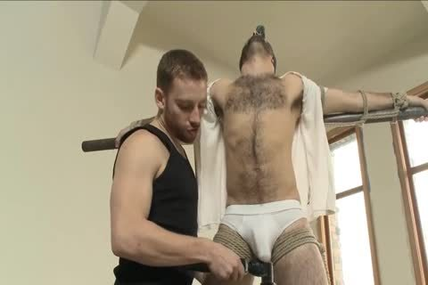 sadomasochism - kinky shaggy stud receives tied Up And Edged.