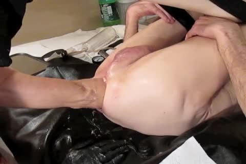 Stretching, Fisting, Trying Out His new Plastic Cylinder With His Prolapse, And Then Using My new toy To Intensify His Experience, Brian Treats His old Buddy Like this guy Was A Newbie And Takes Him throughout The Guided travel.  lots of pleasure, en