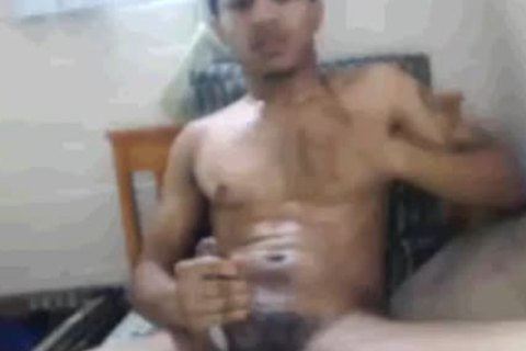 Tatted And Toned Blatino man Masturbating In His bed. (Slow video)