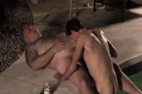 Dilfs engulf dong And cum By The Pool!