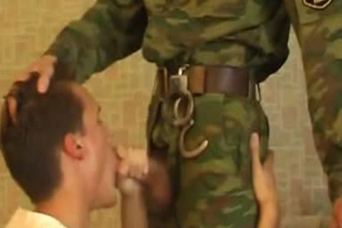guy Sucks penis Of young yummy Military lad