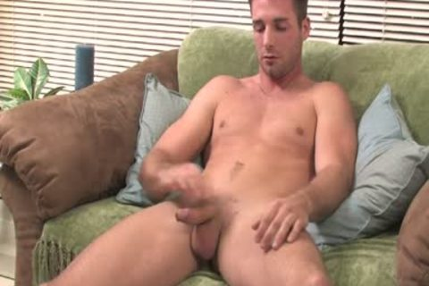 guy Moans From joy while Jerking His large plump wang