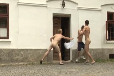 Three concupiscent homosexual males Love painfully pooper nailing