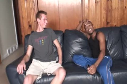 Dylan Woods Takes His First black cock