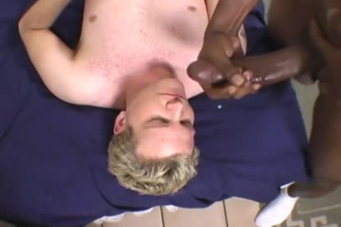 blond lad Does Terrible suck job On A BBC