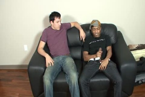 black Haired White man acquires gangbanged By A black Thug