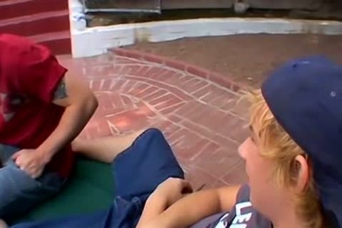 blonde boyz Jeremiah And Casey Enjoying A Poolside nailing