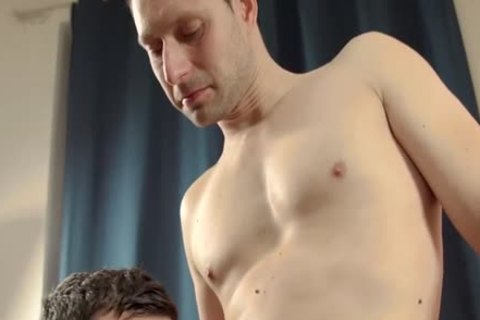 Sleazy old priest fucks tall hairy twink in temple