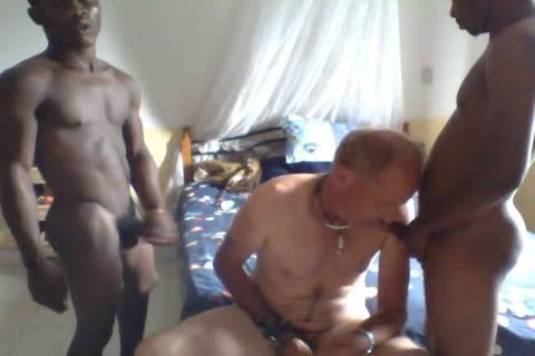 two Africans On One White suck And pound