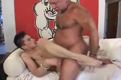 Chinese older daddy bang his son hard in hotel