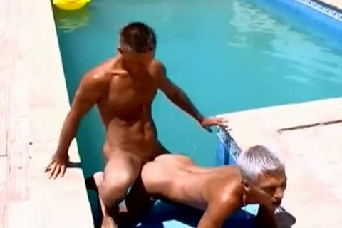 Wow sexy penises gorgeous poolside gay poke