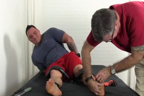 Big Muscle Dude Named Karl Gets The Tickle Treatment