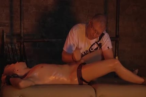 Smooth Chris receives An Incredible handjob From The master