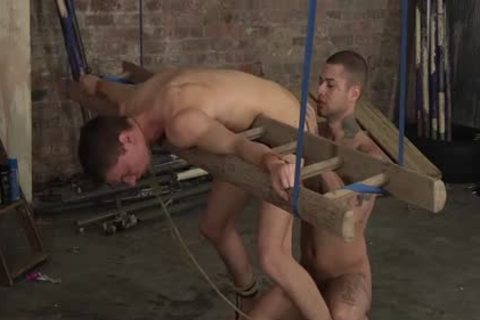 Wicked hunks painfully doggystyle